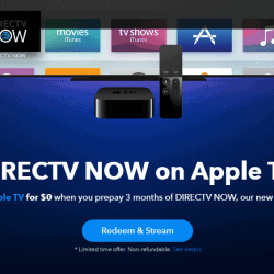 DIRECTV Now Prepay 3 months get Free Apple TV
