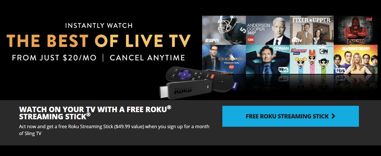 Free Roku Streaming Stick