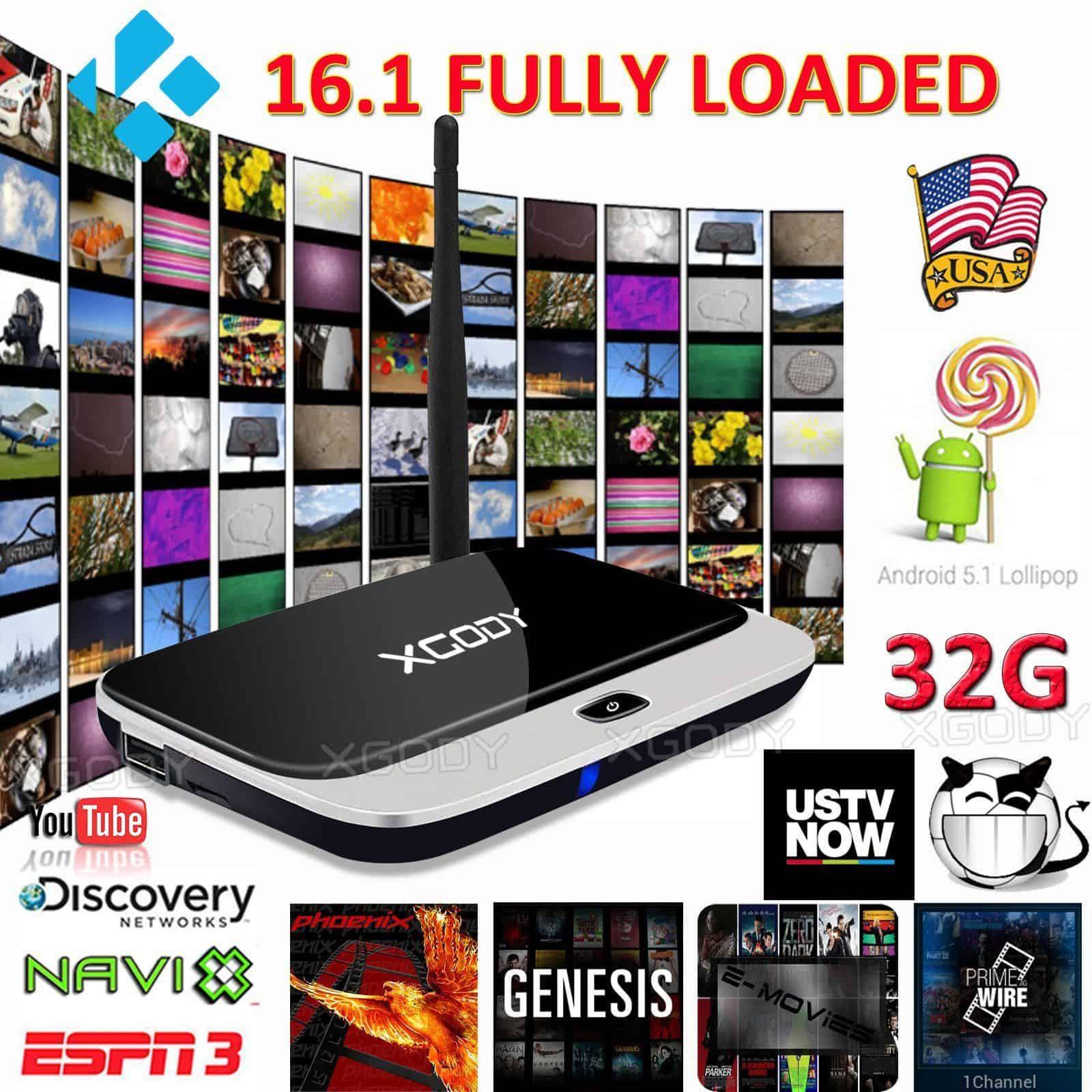 32GB Smart 16.1 Fully Loaded WIFI 1080P HDMI Media Quad Core Android 5.1 TV BOX