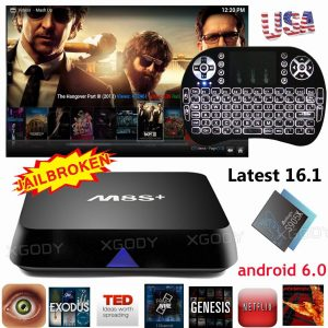 Quad Core Smart TV BOX Fully Loaded 16.1 4K Android 6.0 MXQ Pro
