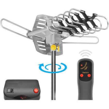 Ematic HD TV Motorized Outdoor Antenna with 150-Mile Range $29.98 @ Walmart