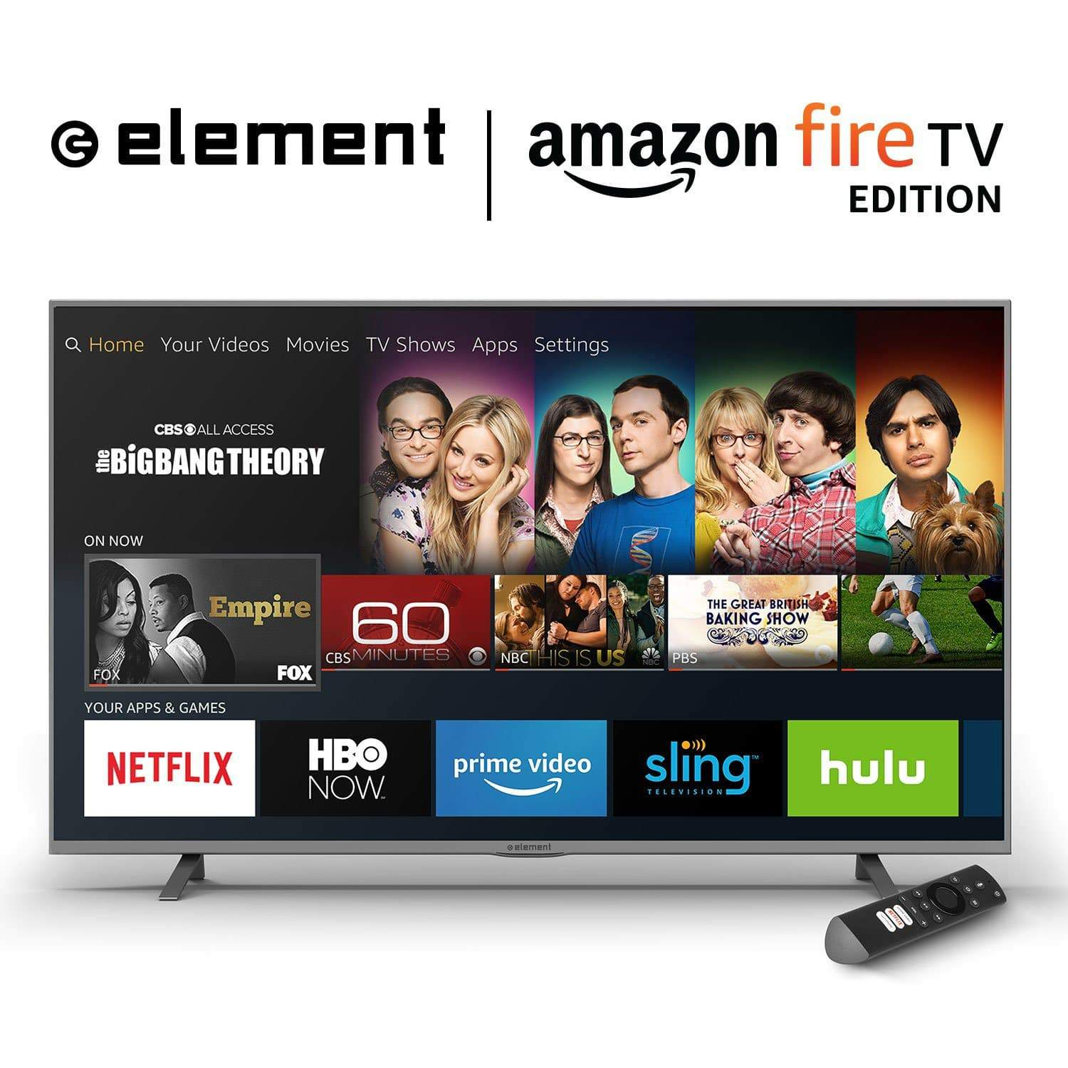All-New Element 55-Inch 4K Ultra HD Smart LED TV - Amazon Fire TV Edition $399.99 Prime Day